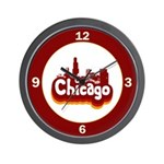 Retro Chicago Wall Clock