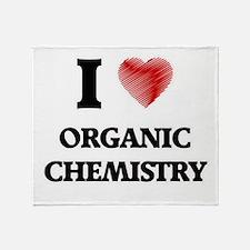 I Love Organic Chemistry Throw Blanket