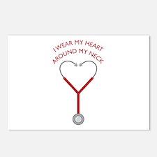 Wear My Heart Postcards (Package of 8)