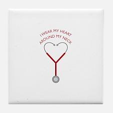 Wear My Heart Tile Coaster