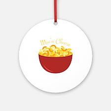 Mac N Cheese Round Ornament