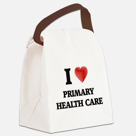 I Love Primary Health Care Canvas Lunch Bag