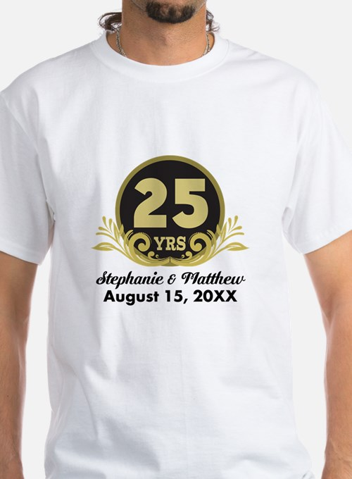 25th anniversary gifts for 25th anniversary unique 25th for Unique custom t shirts