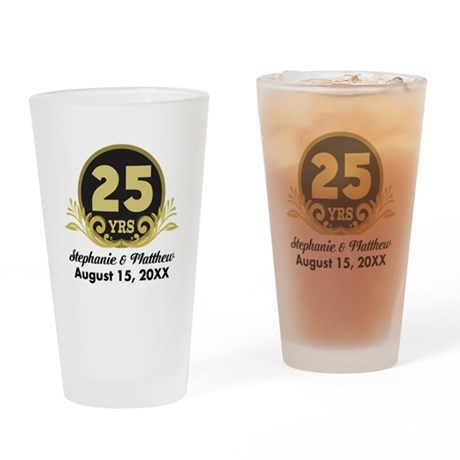 CafePress 25th Anniversary Personalized Gift Idea Drinking