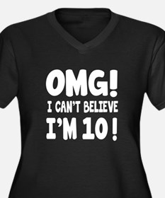 Omg I Can't Women's Plus Size V-Neck Dark T-Shirt