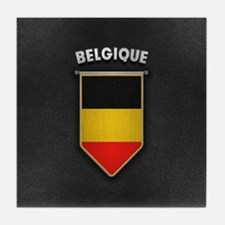 Belgium Pennant with high quality lea Tile Coaster