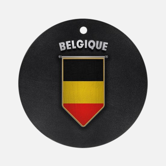 Belgium Pennant with high quality l Round Ornament