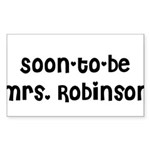 Soon-to-be Mrs. Robinson Rectangle Sticker