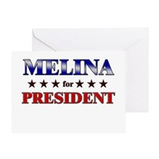 MELINA for president Greeting Card
