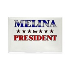 MELINA for president Rectangle Magnet
