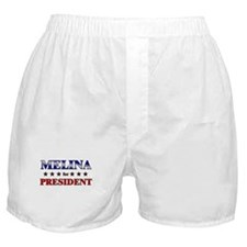 MELINA for president Boxer Shorts