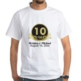 10th wedding anniversary Mens Classic White T-Shirts