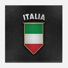 Italy Pennant with high quality leath Tile Coaster