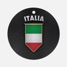 Italy Pennant with high quality lea Round Ornament
