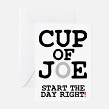 CUP OF JOE - START THE DAY RIGHT! Z Greeting Cards