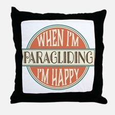 happy paraglider Throw Pillow