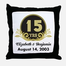 15th Anniversary Personalized Gift Idea Throw Pill
