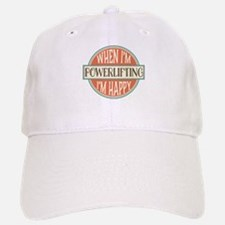 happy powerlifter Baseball Baseball Cap
