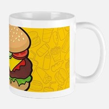 Cheeseburger background Mugs
