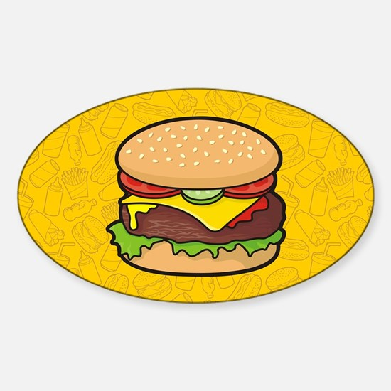 Cheeseburger background Decal