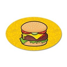 Cheeseburger background Wall Decal
