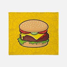 Cheeseburger background Throw Blanket