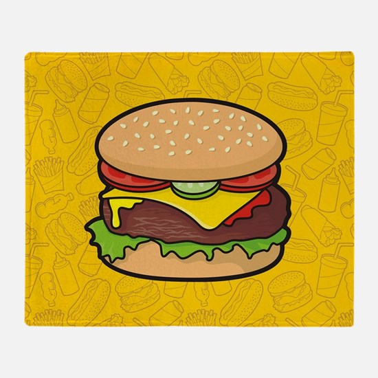 Cheeseburger background Throw Blanket
