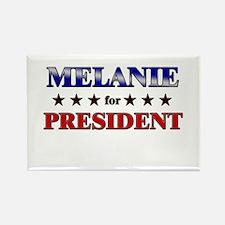 MELANIE for president Rectangle Magnet