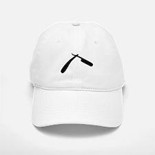 Cut Throat Razor Silhouette Baseball Baseball Cap