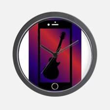 Mobile Phone With Guitar Wall Clock