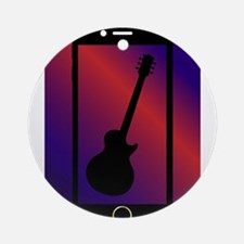 Mobile Phone With Guitar Round Ornament