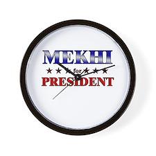 MEKHI for president Wall Clock
