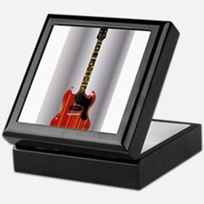 Guitar With Blues Scale Keepsake Box
