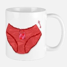 Padlock Knickers And Key Mugs