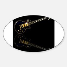 Black Beauty Electric Guitar Decal