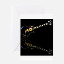 Black Beauty Electric Guitar Greeting Cards