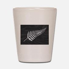 Silk Flag Of New Zealand Silver Fern Shot Glass