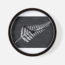Silk Flag Of New Zealand Silver Fern Wall Clock