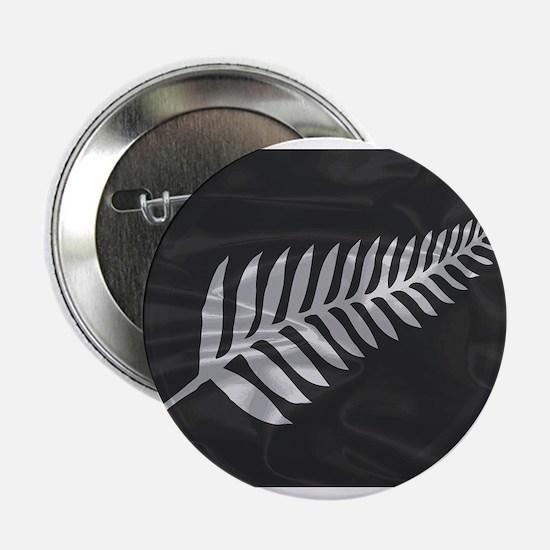 "Silk Flag Of New Zealand Silver Fern 2.25"" Button"