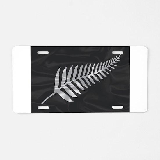 Silk Flag Of New Zealand Si Aluminum License Plate