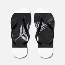 Silk Flag Of New Zealand Silver Fern Flip Flops