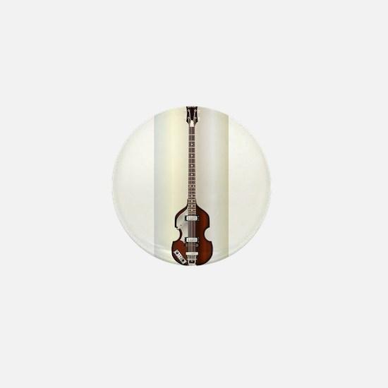 Violin Style Bass Guitar Mini Button