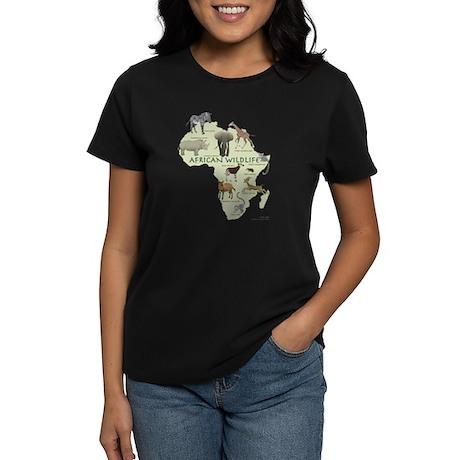 african wildlife Black T-Shirt