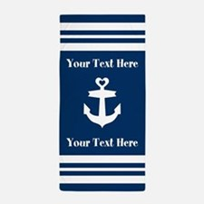 Personalize Anchor Beach Towel