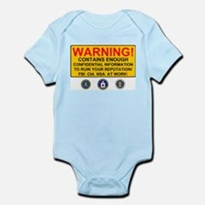 WARNING SIGN - GOVERNMENT SURVEILLANCE - Body Suit