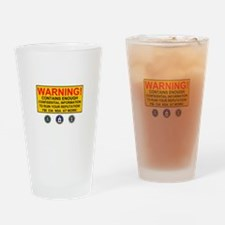 WARNING SIGN - GOVERNMENT SURVEILLA Drinking Glass