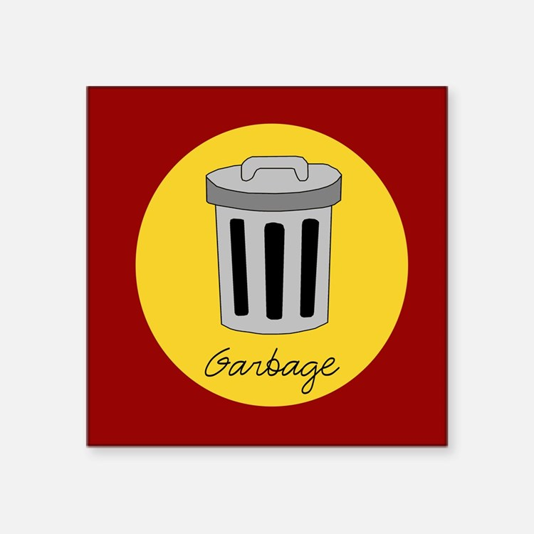 garbage Rectangle Sticker