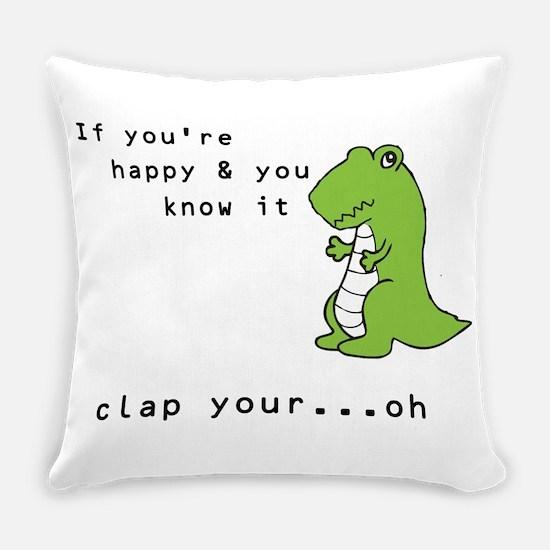 Funny Funny dinosaur Everyday Pillow