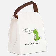 Cute Tyrannosaurus rex Canvas Lunch Bag