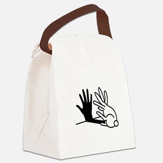Unique Rabbit Canvas Lunch Bag